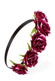 Dark Rose Flower Crown | FOREVER21 Who is getting ready for festival season? #FlowerCrown #Accessories