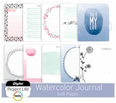 Watercolor Journal 6x8 Pages