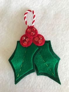 A personal favorite from my Etsy shop https://www.etsy.com/listing/559357742/jolly-holly-3-berry-paradise-felt