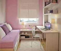 Small Bedroom Ideas, small master bedroom ideas, small bedroom decorating ideas, bedroom ideas for small rooms, small bedroom storage ideas Dream Bedroom, Home Bedroom, Bedroom Decor, Bedroom Ideas, Small Rooms, Small Spaces, Bedroom Small, Small Small, Single Bedroom
