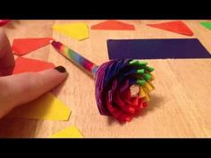 Rainbow Duct Tape Flower-Tutorial - YouTube