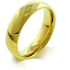 5mm Gold Bonded Stainless Steel Wedding Band from The BEST OF BOTH WORLDS BOUTIQUE MONOGRAM AND GIFTS for $25.00