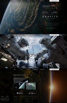 Gravity, 3 October 2013. http://www.awwwards.com/web-design-awards/gravity   #WebInteractive #CSS3 #Fullscreen #HTML5 #Video #WebGL