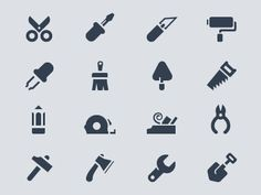 Tools in Icons, Symbols & Pictograms