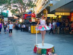 """Xmas Music Box Dancer"": Performed by Asher From Hoozatt? Entertainers. Queen St. Mall, Brisbane, Queensland, Australia."