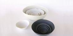 Blowawish Set of 4 Dark Grey Bowls - Trouva