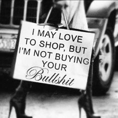 I may love to shop