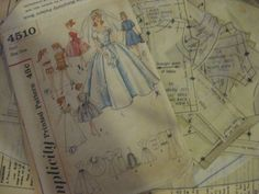 ORIGINAL Doll Clothes PATTERN 4510 for 11.5 in Barbie Midge Gina Babs by Mattel #Simplicity