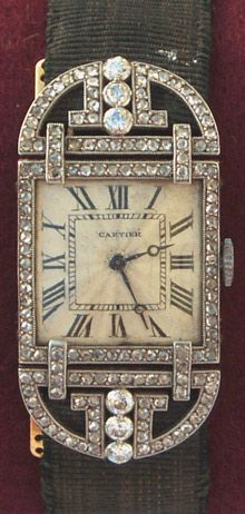 1920's Cartier diamond set wristwatch.