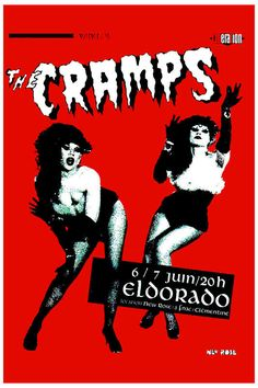The Cramps at Paris France Concert Poster 1980 at Endless Posters