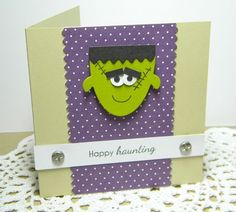 Melissa Bickford - flipped the ghost upside down and turned him into Frankenstein's monster!! Love this! So cute!!!