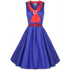 A dress made for me: Paige Blue Sailor Tea Dress | Vintage Inspired Fashion - Lindy Bop
