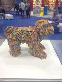What a sweet, we mean sour, dog! Made with sour worms at the Sweet & Snack Expo in Chicago.
