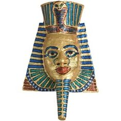United Art and Education Art Project:  Sculpt and paint a metallic Egyptian portrait mask!