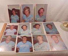 Set of 11 Baseball orignal 1976 Kansas City Royals MLB Photos  5 1/2 x 7 1/2