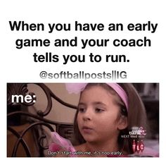 11 Things Fastpitch Softball Players Know To Be True - Funny Sports - - You wanted to be a pitcher just so you didn't have to do outfield drills. The post 11 Things Fastpitch Softball Players Know To Be True appeared first on Gag Dad. Funny Softball Quotes, Volleyball Jokes, Soccer Jokes, Softball Cheers, Basketball Memes, Softball Players, Girls Softball, Fastpitch Softball, Coaching Volleyball