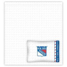 New York Rangers NHL Sheet & Pillow Set Full