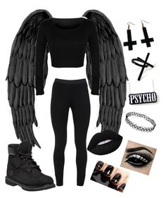 """""""Angel of Music"""" by tayeisbi25 on Polyvore featuring Peace of Cloth, Timberland, Chicnova Fashion, Lime Crime and Emi Jewellery"""
