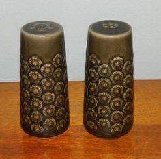 Azur Salt and pepper set in brown stoneware from Bing og Grøndahl /Quistgaard  in Pottery & Glass, Pottery & China, Art Pottery, Scandinavian Pottery   eBay