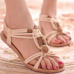 Sandals Summer Women Shoes Sandals Comfort Sandals Summer Flip Flops 2017 Fashion High Quality Flat Sandals Gladiator Sandalias Mujer - There is nothing more comfortable and cool to wear on your feet during the heat season than some flat sandals. Beach Shoes, Beach Sandals, Flat Sandals, Gladiator Sandals, Women's Shoes Sandals, Women Sandals, Golf Shoes, Strap Sandals, Summer Sandals