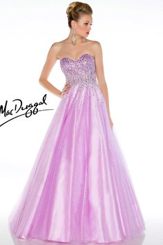 Lilac Prom Dress Adorned with Stones