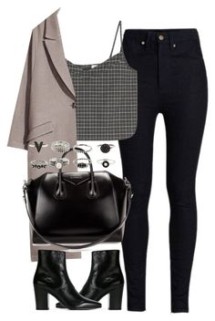 """""""Untitled #4138"""" by london-wanderlust ❤ liked on Polyvore featuring Rodarte, Givenchy and Yves Saint Laurent"""