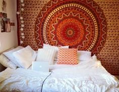 boho indie bedroom ideas - Google Search