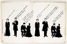 Robert Massin, Typographic interpretation of Ionesco's The Bald Soprano, 1964 Graphic Design Letters, Modern Graphic Design, Lettering Design, Graphic Design Inspiration, Graphic Designers, Eugene Ionesco, August Strindberg, Graffiti, Theatre Design
