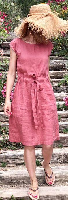 red o neck drawstring cotton linen summer dress Source by DressOriginal dresses casual sundresses Linen Dresses, Cotton Dresses, Casual Dresses, Braut Make-up, New Dress, Dress Lace, Dress Red, Women's Fashion Dresses, Dress Outfits