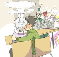 killugon. I love how hisoka is just schwing-ing in the corner