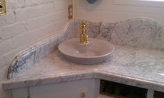 Beautiful bathroom countertops and sink we did.