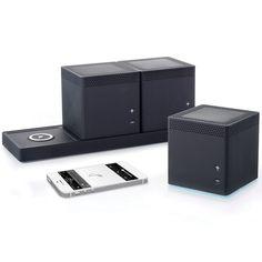 The Three Room Wireless Speaker System - Hammacher Schlemmer