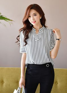 Korean Women`s Fashion Shopping Mall, Styleonme. Classy Work Outfits, Classy Dress, Trendy Outfits, Fashion Outfits, Maternity Fashion Dresses, Work Fashion, Fashion Design, Women's Fashion, Shirred Dress