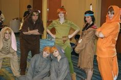 Peter Pan, Tiger Lily and the Lost Boys by Kikala
