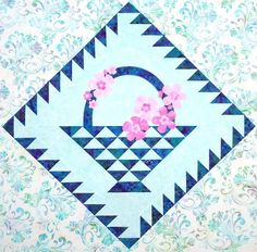 Learn how to make this Cherry Basket Block in April's Block of the Month Video