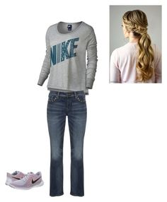 Casual Outfit by rfaber on Polyvore featuring NIKE and Silver Jeans Co.