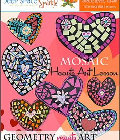 Mosaic-Hearts-Art-Lesson