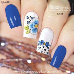 We have chosen the most fashionable nails for this summer. colorful floral pattern, butterfly pattern and many colorful nails. Creative Nail Designs, Cute Nail Designs, Creative Nails, Butterfly Nail, Butterfly Pattern, Floral Nail Art, Pretty Nail Art, Classy Nails, Flower Nails