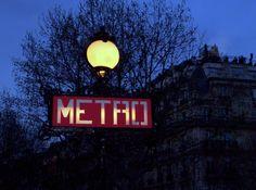 Metro sign, Paris.