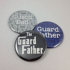 The Guard Father Color Guard Dad Button Magnet by SpiritThings - Winter Guard themed buttons