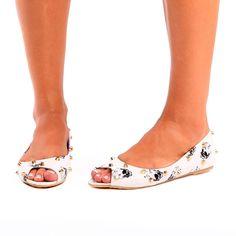 Iron Fist ~ Distant Memory Peep Toe Flat - Footwear