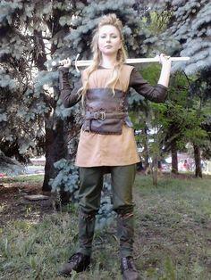 Viking shield maiden costume inspiration at Kyiv Comic Con 2015