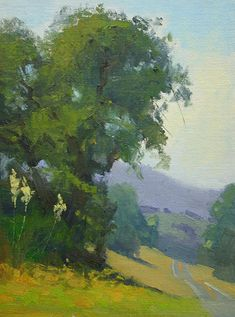 Landscape Painting American Luxury Along the Highway by Rusty Jones Oil X Design Oil Painting Trees, Watercolor Trees, Watercolor Landscape, Landscape Art, Landscape Paintings, Tree Art, Beautiful Landscapes, Pastel, Artwork