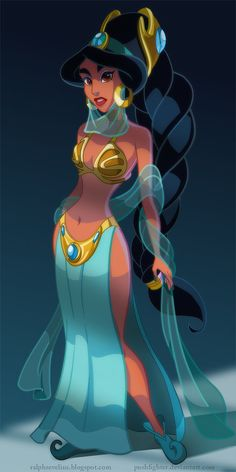 This artist reimagines Disney princesses as Star Wars characters.  Illustration by Ralph Sevelius