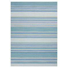 Anchor your living room seating group or define space in the den with this handwoven wool rug, featuring multicolor striping.