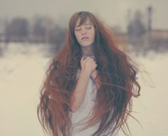 """Untitled"" by Katerina Plotnikova - love the long red hair and the tones in this"