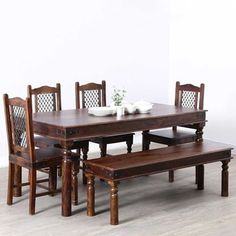 Buy Solid Wood extendable dining table, round dining table, farmhouse small dining table set up to 40% Off. Choose from a range of solid mango wood small & large dining table Set. Small Dining Table Set, Wooden Dining Set, Dining Table Online, Dinning Set, Solid Wood Dining Set, Dining Table Design, Extendable Dining Table, Dining Room Furniture, Wooden Furniture