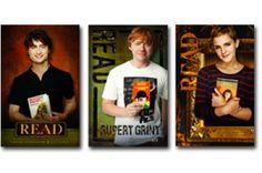 Harry Potter movie cast READ poster: Daniel Radcliffe - The Master and Margarita, Rupert Grint - A Clockwork Orange, Emma Watson - Romeo and Juliet