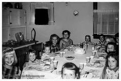 Birthday Party Table Grove Illinois 1957 by Joe Paradis