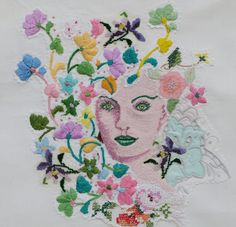"""Summer"" from the 4 seasons series.  Techniques used include machine embroidery, embellished felting, beading, silk dyeing"